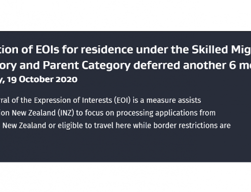 Selection of EOIs for residence under the Skilled Migrant Category and Parent Category deferred another 6 months